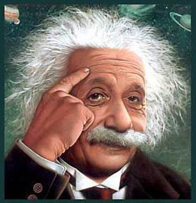 """Albert Einstein (14 Maret 1879–18 April 1955) adalah seorang ilmuwan fisika teoretis yang dipandang luas sebagai ilmuwan terbesar dalam abad ke-20. Dia mengemukakan teori relativitas dan juga banyak menyumbang bagi pengembangan mekanika kuantum, mekanika statistik, dan kosmologi. Dia dianugerahi Penghargaan Nobel dalam Fisika pada tahun 1921 untuk penjelasannya tentang efek fotoelektrik dan """"pengabdiannya bagi Fisika Teoretis""""."""