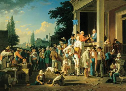 Lukisan yang menggambarkan pemilu karya George Caleb Bingham ( 1811- 1879.