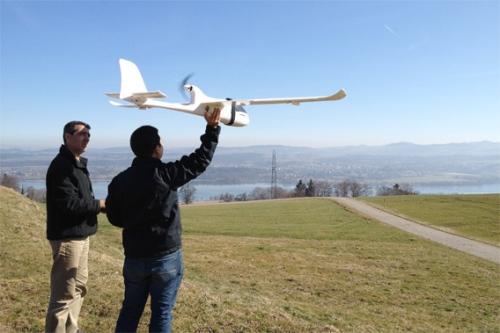 Pesawat tanpa awak saat diujicoba di Swiss. Foto: Lian Pin Koh