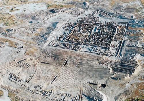 kota kuno Gonur-Tepe terkubur selama berabad-abad di bawah gurun Kara Kum, wilayah barat Turkmenistan.