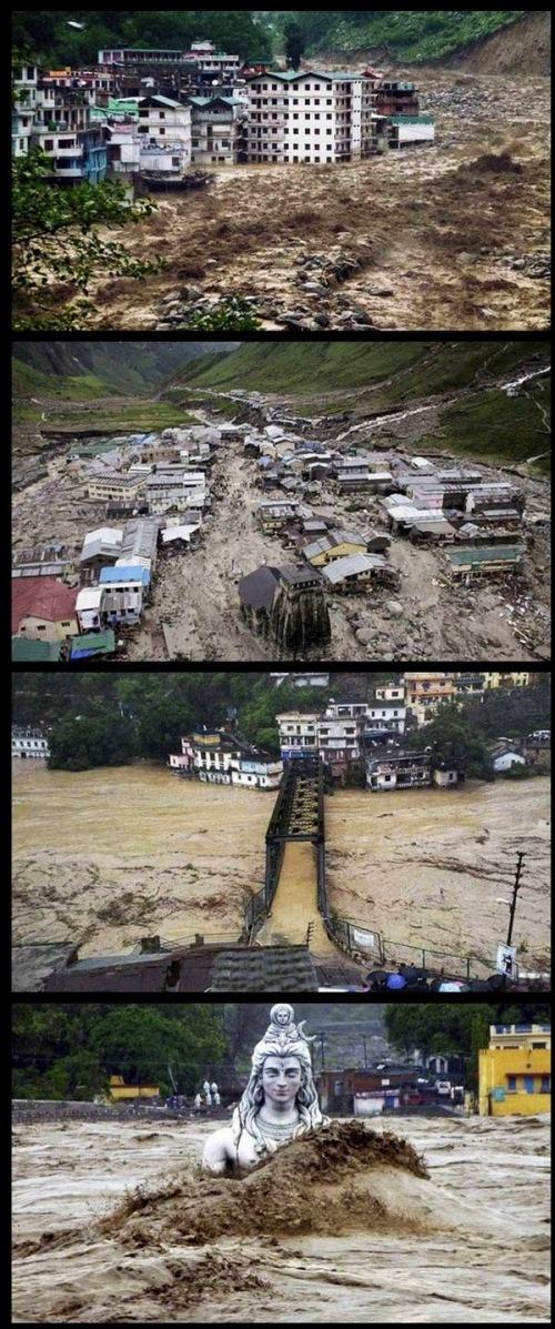 Menteri Dalam Negeri India Sushilkumar Shinde mengatakan, banjir menyapu jalanan, lebih dari 20 jembatan tersapu banjir dan 365 rumah tersapu banjir.