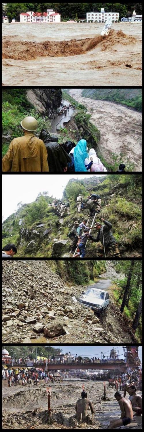 Sedikitnya 138 orang tewas di Uttarakhand India saat banjir besar menerjang kawasan  Himalaya.