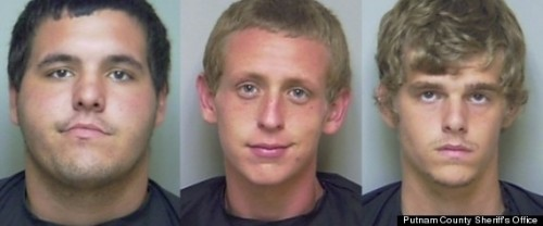 Darrin Edwards, Tyler Jones, and James Smith were arrested for allegedly stealing an aluminum chicken statue.