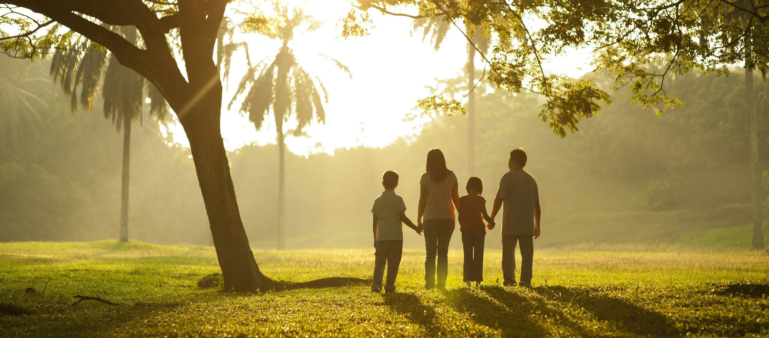 Menikmati udara segar di pagi hari khususnya di alam pedesaan bersama keluarga.