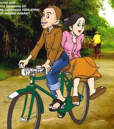 Mengurai pikiran ruwet alangkah baiknya bersepeda bersama pasangan.