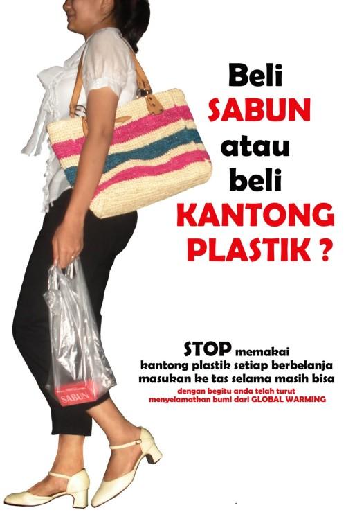 Berusaha mengurangi penggunaan kantong plastik berlebihan perlu mendapat dukungan. Selain tidak ekonomis, juga memberi sumbangan sampah plastik pada lingkungan.