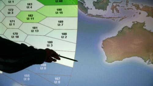 Peta dugaan jatuhnya pesawat Malysia Airlines beberapa waktu lalu.