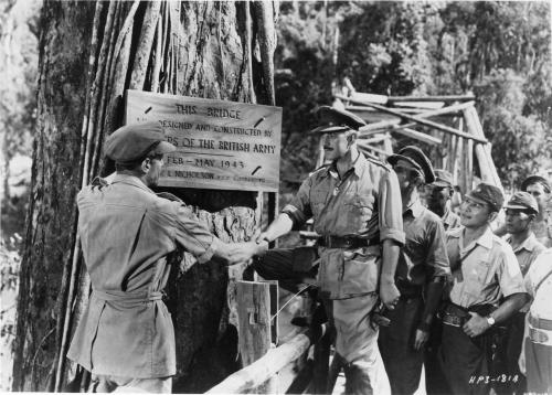 Alec Guiness in The Bridge on the River Kwai directed by David Lean, 1952.