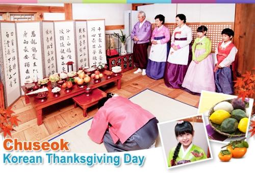 Ritual sembahyang sambut perayaan Chuseok Korsel.
