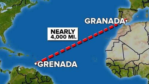 Hanya salah mengetik huruf a kata Granada menjadi e kata Grenada, Edward  Gamson batal berkunjung ke Istana Alhambra, Spanyol.