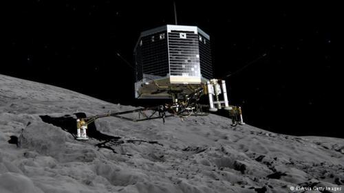 Animasi pendaratan Philae mendarat di komet.