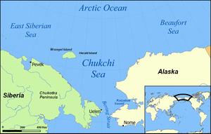 Peta Laut Chukchi.