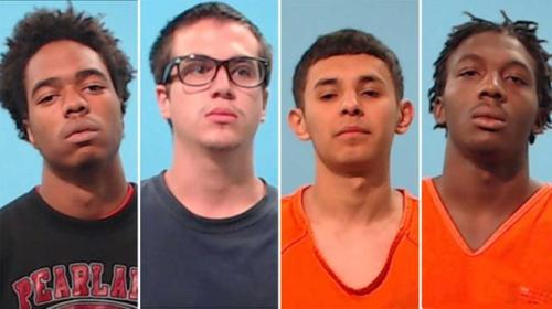 Empat  remaja ditahan.