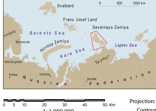 Severnaya Salin adalah sekelompok pulau Rusia di transisi dari laut Kara ke laut Laptev.