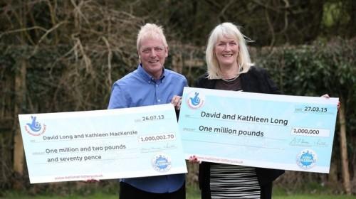 Untuk kedua kalinya, pasangan David dan Kathleen Long menang lotre.