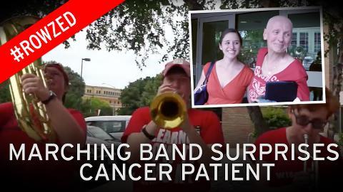 Luar biasa penyambutan saya kali ini, ujar Ann saat dirinya melihat penampilan marching band