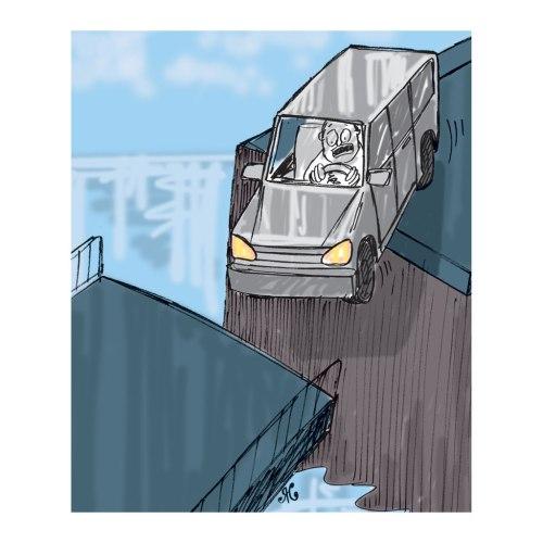 Kecelakaan bisa menimpa siapa saja, tak terkecuali pnmobil station wagon berwarna perak terjatuh ke dalam sungai.