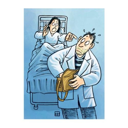 Ilustrasi Handining, dokter palsu mencuri hp pasien wanita.