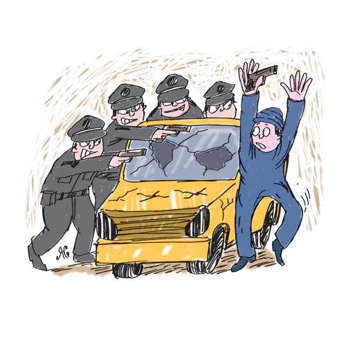 Ilustrasi Handining, Jerol Harris akhirnya menyerah kepada polisi New York.