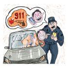 Ilustrasi Handining, Salvador Sanchez Buenrostro ditilang polisi.