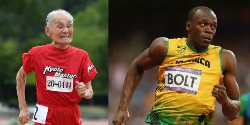 Dengan julukan Golden Bolt, Miyazaki kerap meniru pose khas Usain Bolt.