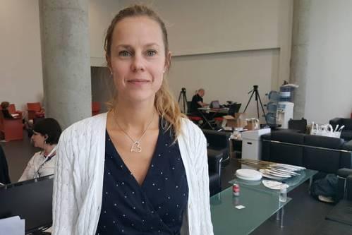 Dr. Emelie Benyi , peneliti di Karolinska Institutet . Foto : Katherine Tunggal.