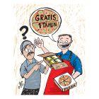 Ilustrasi Handining, piza gratis 1 tahun untuk Mike Vegas.