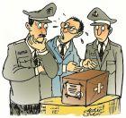 Polisi Hazlet memeriksa paket misterius salah alamat. Ilustrasi Didie SW.