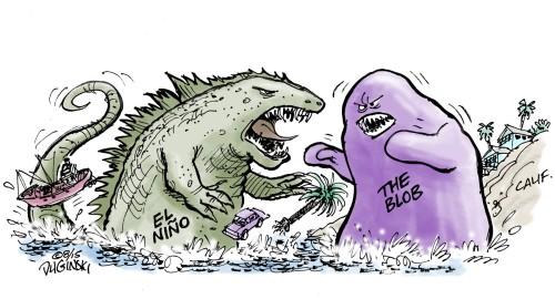 Godzilla ' El Niño : hujan yang luar biasa untuk California , musim dingin kering untuk Midwest - LA Times.