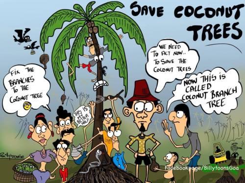 Sementara itu, inilah yang Goan kartunis Billy Joe Fernandes lakukan untuk mengekspresikan cemas atas masalah ini.
