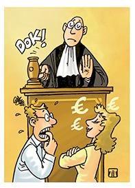 Mantan suami minta hadiah menang lotre, tapi pengadilan tak mengabulkan. Ilustrasi, Jitet.