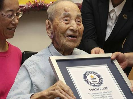 Yasutaro Koide--World's Oldest Man, Dies In Japan.