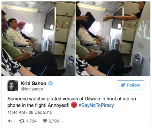 Susah dinasihati agar menonton film Dilware di bioskop, Kriti Sanon langsung mengunggah foto jepretannya ke twitter.