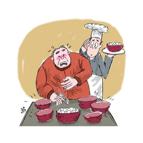 Candu alias opium digunakan sebagai penyedap makanan di restoran Tiongkok. Ilustrasi : Handining.