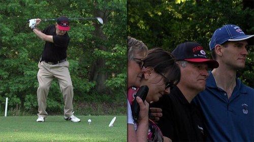Pensiunan Kolonel Kevin Reinert selesai golf putaran Jumat itu tujuh bulan dalam pembuatan.