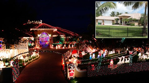 Keramaian sambut Natal di halaman luas milik membuat tetangga protes.