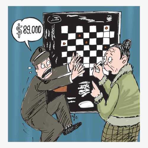 89.000 dollar as papan catur