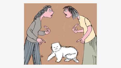 dua cewek dng kucing putih