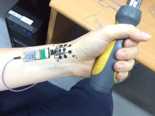 The electronic tattoo developed at Tel Aviv University