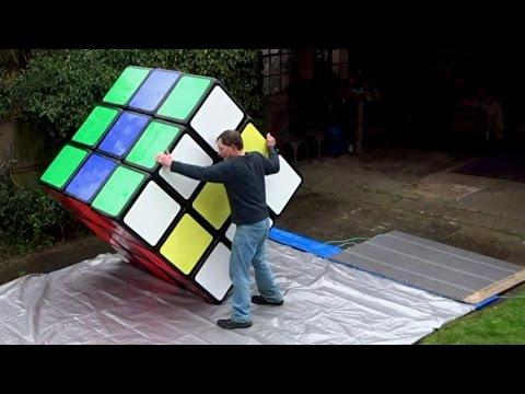RUBIK 'S puzzle CUBE TERBESAR Tony Fisher di dunia! Resmi Guinness World Record ! 1.57m 3x3x3