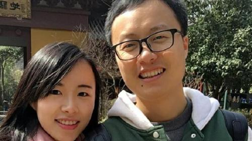 Lu Yiqin ( kiri ) dan calon suaminya, Zhang Hedong ( kanan ).