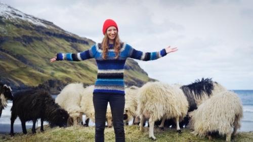 Durita Dahl Andreassen memimpin Sheep Lihat 360 proyek di Kepulauan Faroe. (Visitfaroeislands.com)