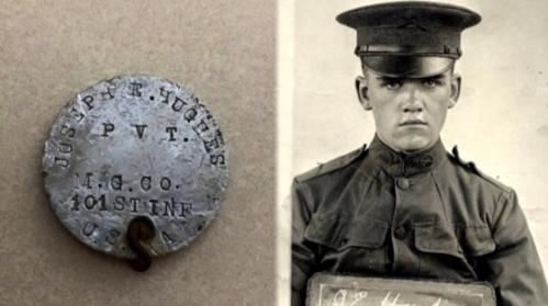 Benda bersejarah milik veteran Perang Dunia I, Joseph E Hughes.
