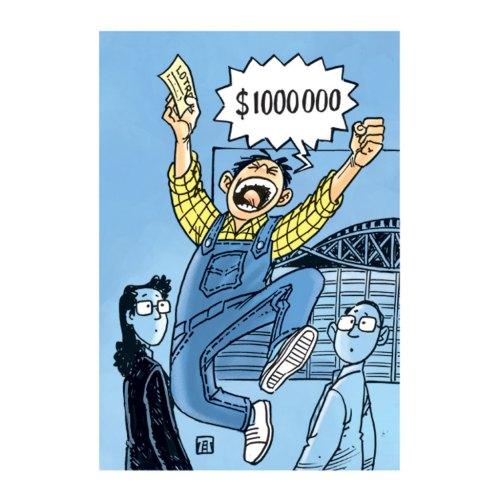 Pria Selandia Baru menang lotre senilai 1 juta dollar AS. Ilustrasi : Jitet.