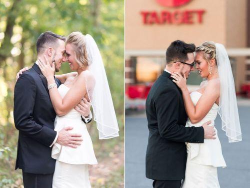 Karena usia pernikahan baru satu tahun dan bau romantis pengantin baru belum hilang, pasangan Lauren dan Corey Rexroad membuat album kenangan diri dalam toko Target.