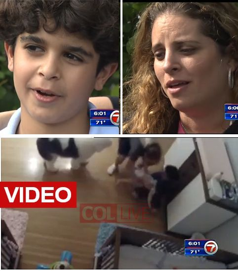 9 tahun Joseph Levi dari Bal Harbour, Florida sedang dipuji pahlawan setelah ia berlari untuk menyelamatkan nya bayi saudara setelah jatuh berbahaya.