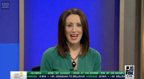 Kaci Aitchsion presenter berita televlisi piawai dalam mengurai kata saat membawakan berita. Akan tetapi tidak piawai saat disuruh menggambar meriam.