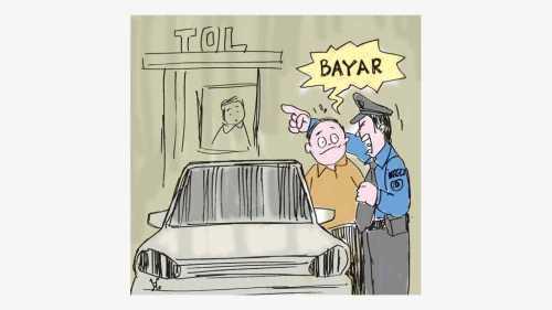 Ilustrasi : Handining, Alesandel Rodriguez terpasa dihentikan polisi dan harus membayar denda